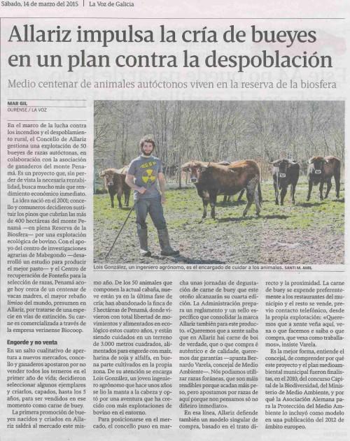 La Voz, 14 de marzo de 2015.