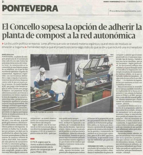 Diario, 27 febreiro 2015