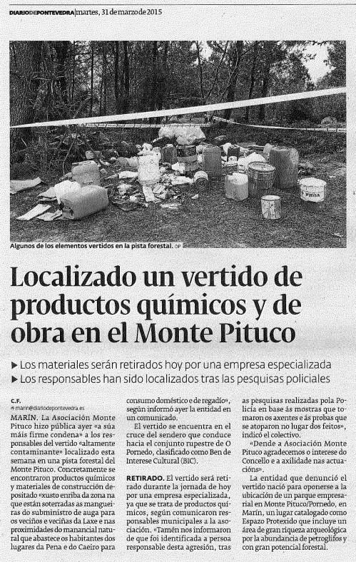 Diario, 31 marzo 2015