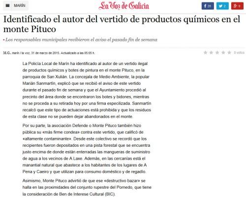 La Voz, 31 marzo 2015