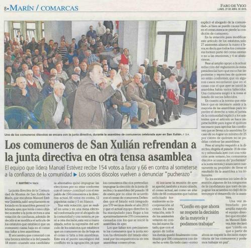 Faro, 27 de abril 2015.