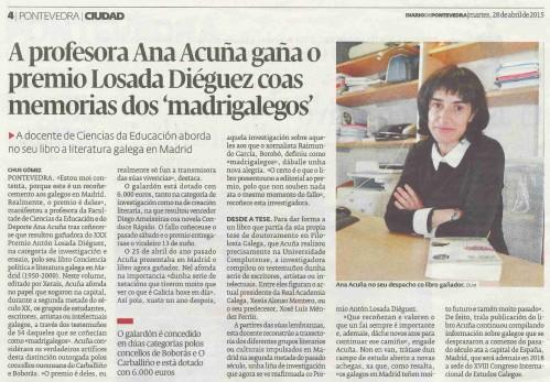 Diario, 28 abril 2015.
