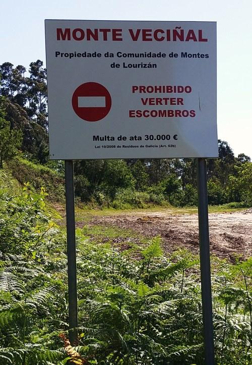 Panel Comunidade de Montes de Lourizán.