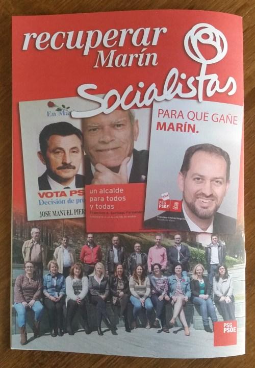 Contracapa do programa electoral do Psoe.