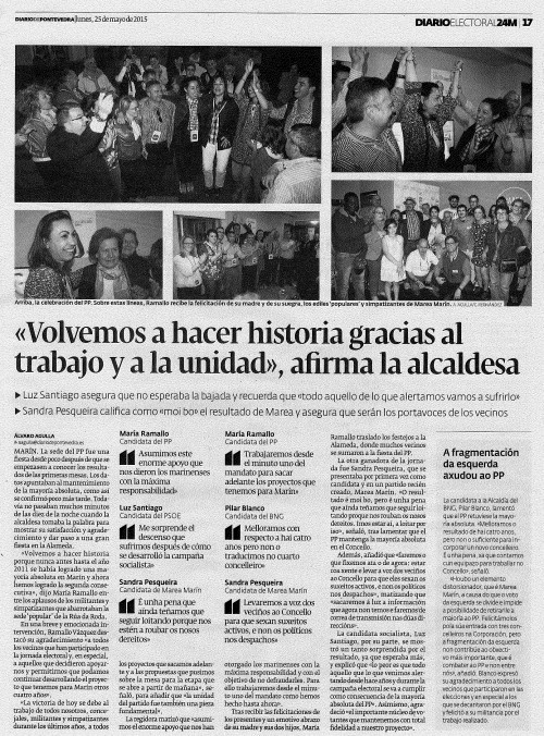 Diario, 25 maio 2015