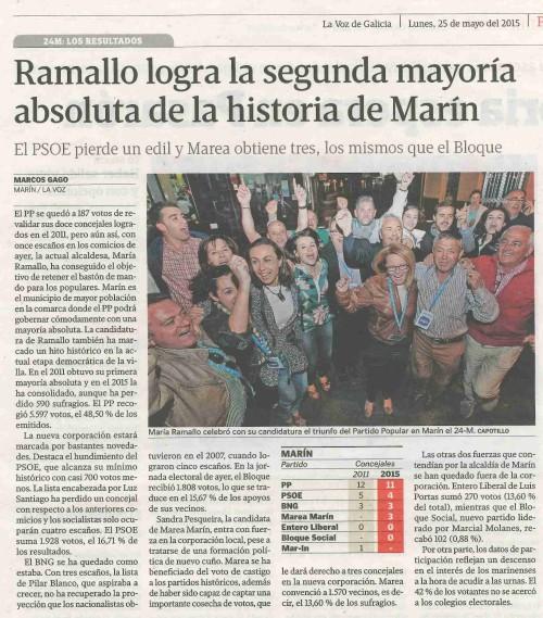 La Voz, 25 mayo 2015