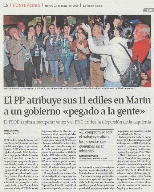 La Voz, 26 maio 2015