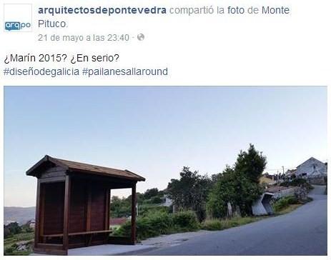 Arquitectos de Pontevedra sobre a marquesina