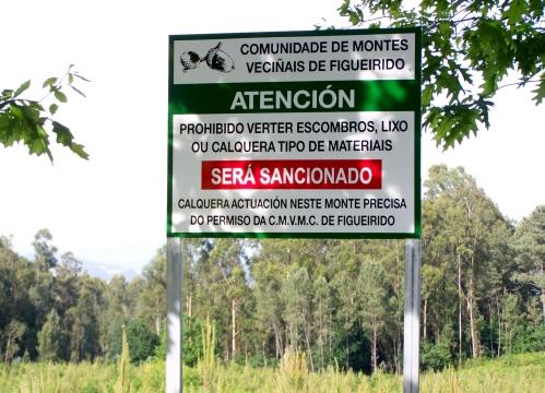 Panel da Comunidade de Montes de Figueirido.