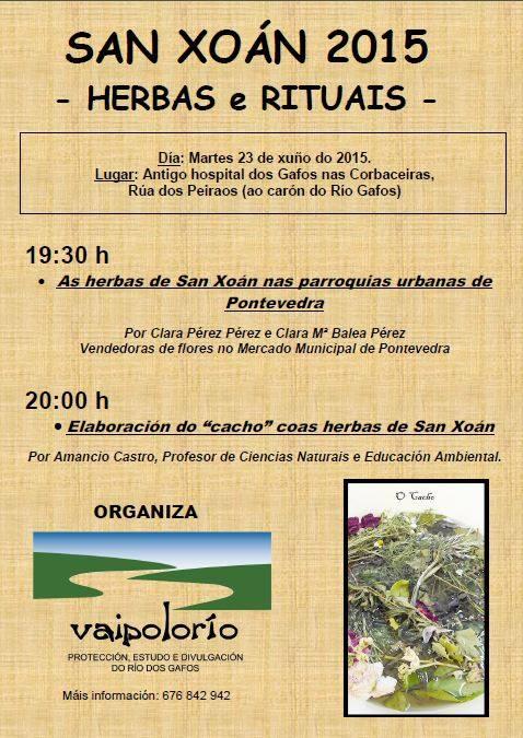 Vaipolorío organiza unha charla sobre as herbas de San Xoán.