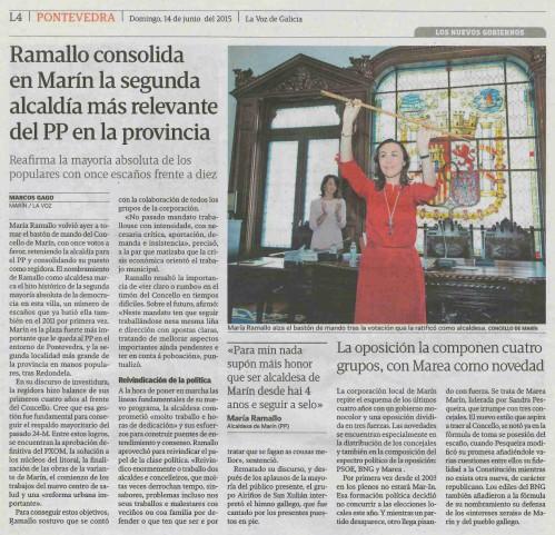La Voz,  14 xuño 2015