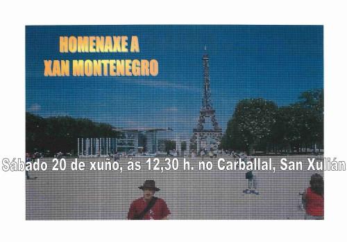 Homenaxe a Xan Montenegro