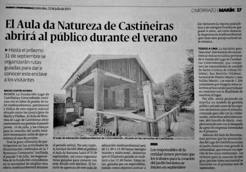 Diario, 22 xullo 2015