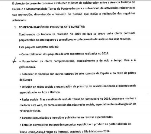 Acordo Turismo de Galicia e Terras de Pontevedra.
