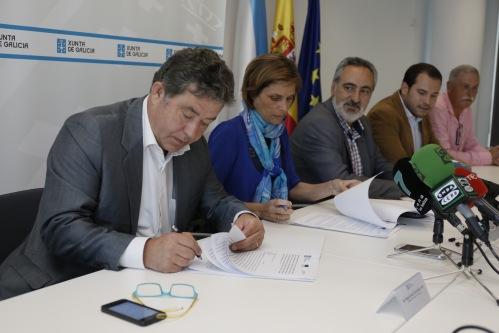 Lores e Nava Castro firman convenio de turismo con mancomunidade Terras de Pontevedra.