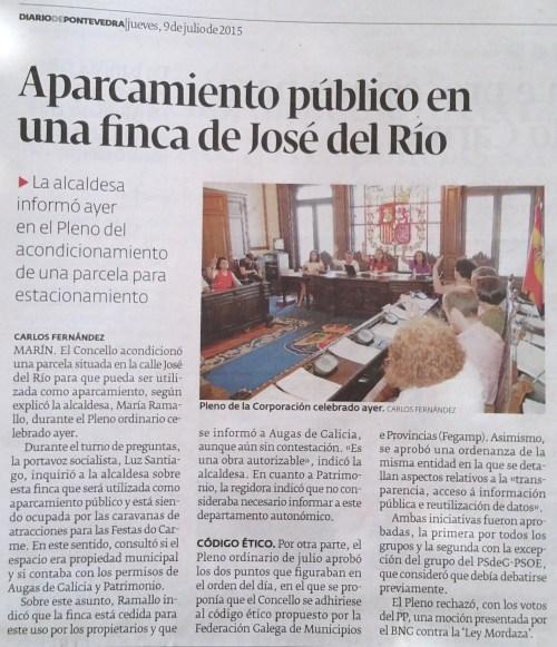 Diario, 9 xullo 2015