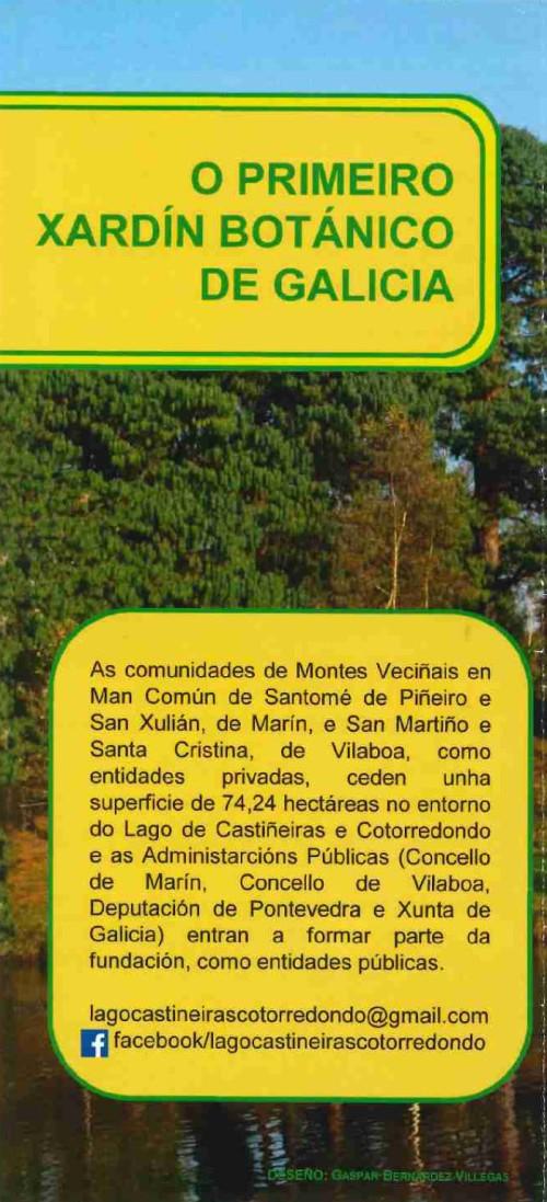 Tríptico informativo da Fundación Lago Castiñeiras.