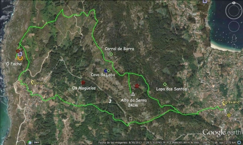 Mapa da ruta (Paulo Troitiño)