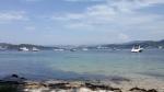 Embarcacións de recreo fondeadas enTambo