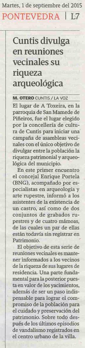La Voz, 1 setembro 2015