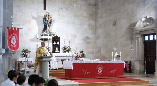 Jorge Gómez Gude, na misa solemne de San Miguel