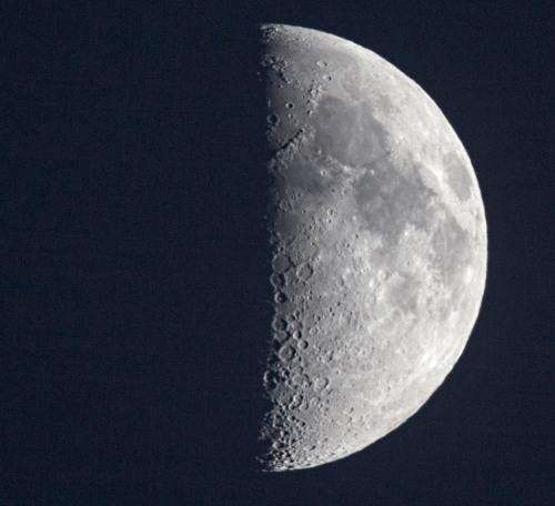 A lúa do 20 de outubro, fotografada dende o Monte Pornedo