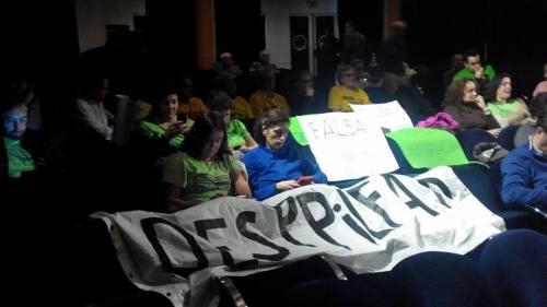 Protesta no Pleno de Pontevedra