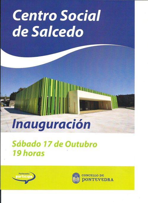 Inauguración do Centro Social de Salcedo.