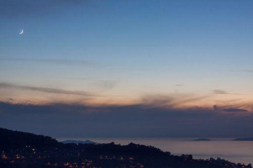 Solpor dende o Monte Pornedo (foto, Antonio Costa).