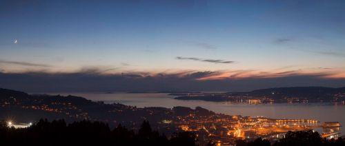 Vista de Marín dende o Monte Pornedo (foto, Antonio Costa).