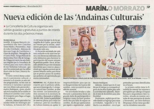 Diario, 1 outubro 2015.