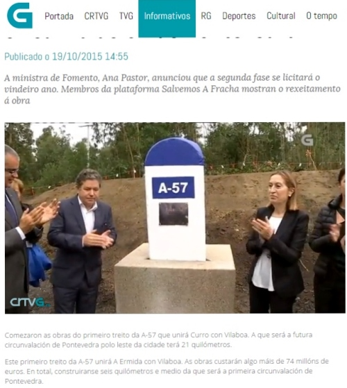 Televisión de Galicia, 20 outubro 2015