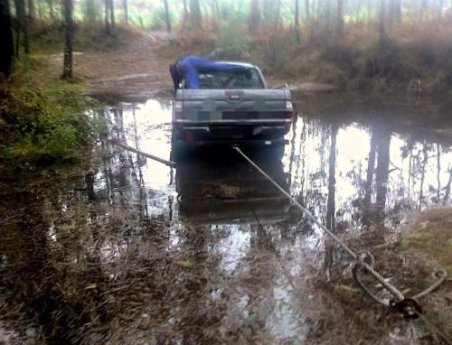 Vehículo atrancado chuvia_out15