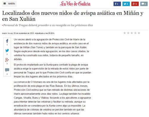 La Voz, 3 novembro 2015