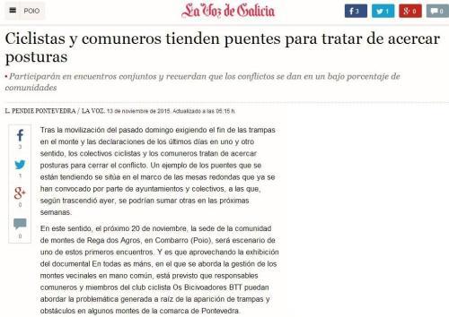 La Voz, 13 novembro 2015