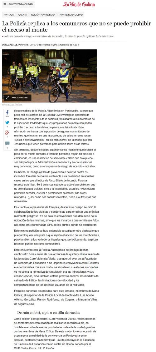 La Voz, 12 novembro 2015