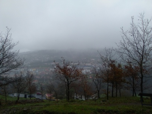 Vista do Monte Pituco (Pornedo) dende o Castro da Subidá.