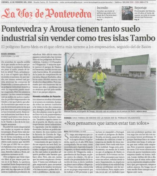 La Voz, 12 febreiro 2016