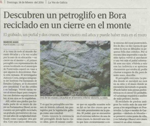 La Voz, 14 febreiro 2016