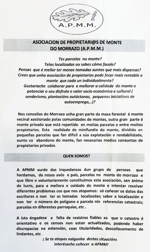 Asociación de Propietarios de Monte Privado.