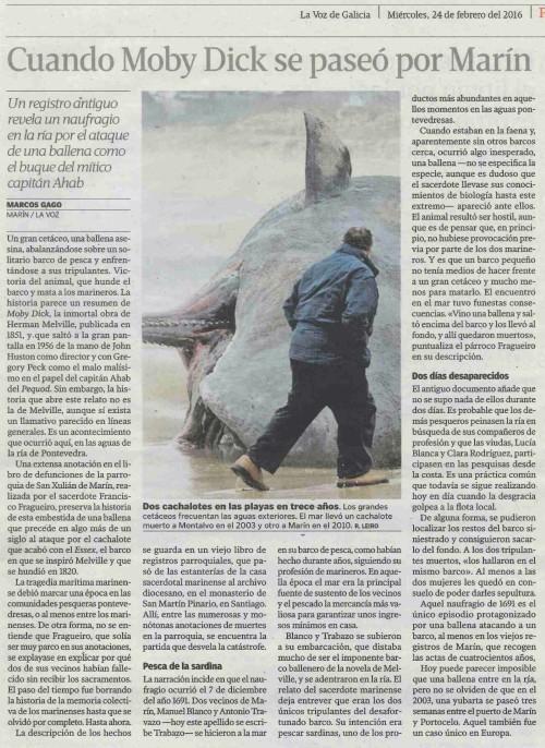 La Voz, 24 febreiro 2016