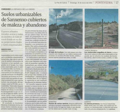 La Voz, 31 xaneiro 2016