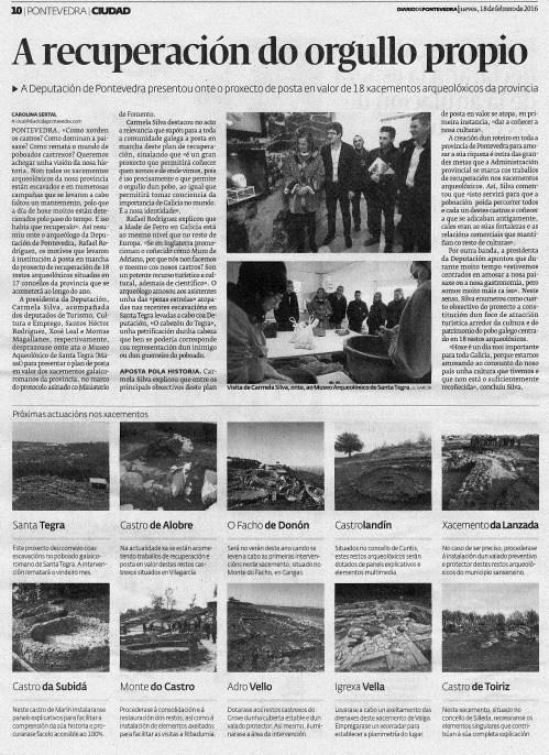 Diario, 18 febreiro 2016
