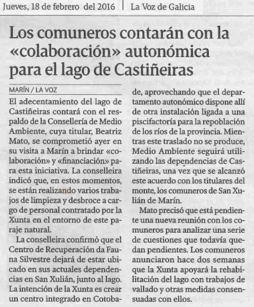 La Voz, 18 febreiro 2016
