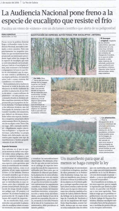 La Voz, 1 marzo 2016