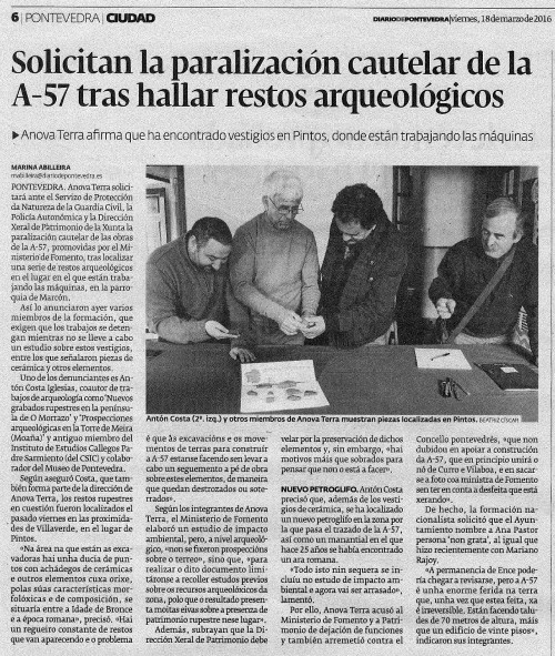 Diario, 18 marzo 2016
