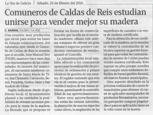 La Voz, 20 febreiro 2016