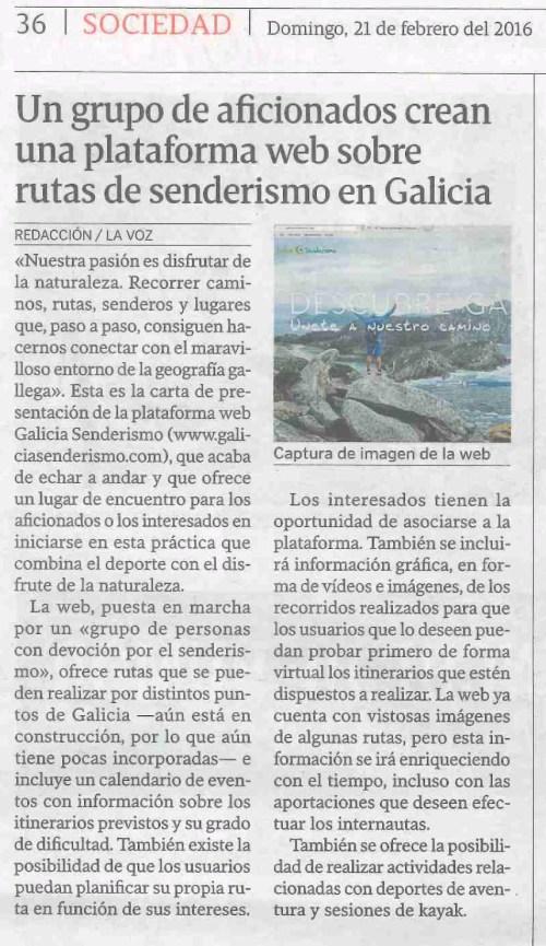 La Voz, 21 febreiro 2016