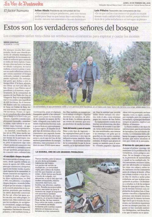 La Voz, 29 febreiro 2016