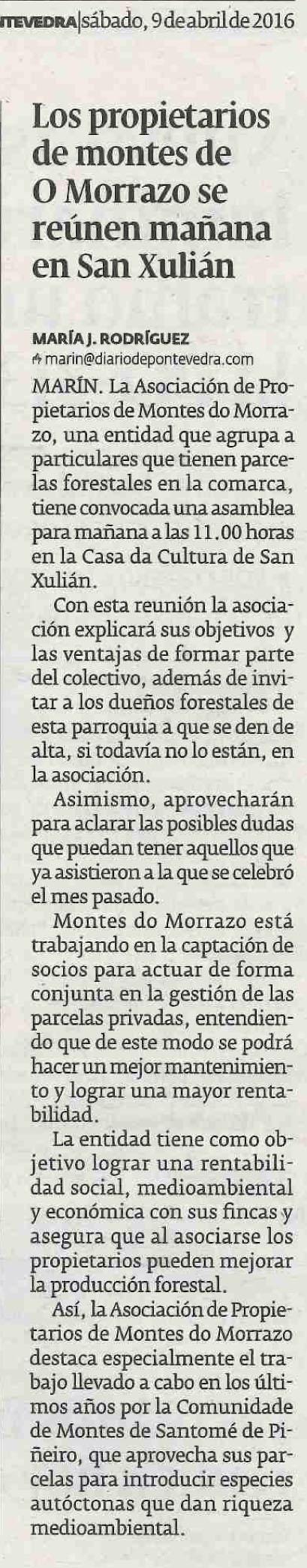 Diario, 9 abril 2016